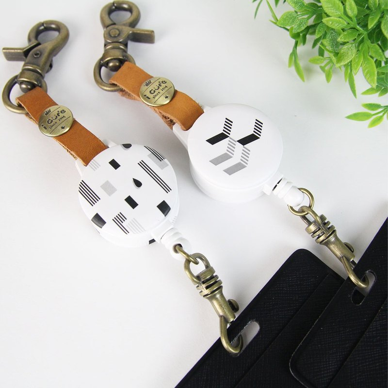 i good hook telescopic certificate ticket card gentleman series illusion ladder ticket card holder telescopic pull ring leather