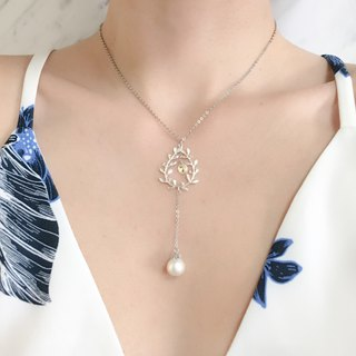S necklace waiting for your kiss under S mistletoe tree SV136S