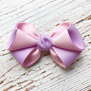 Pink and fresh bangs hairpin / tender purple + light pink