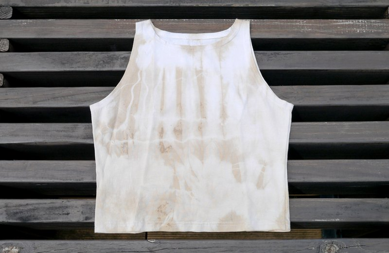 Plant dyed yoga tops yin and yang tops Yoga Top Natural dye