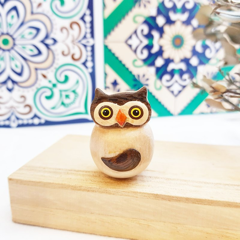 [Shaking Owl - Wooden Tumbler Decoration] Good Peace