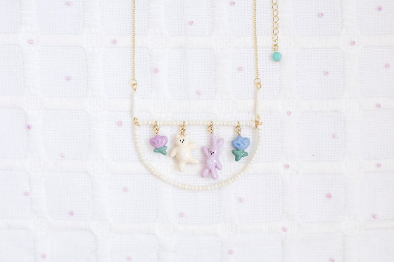 Doll Series - Bear Rabbit Rabbit Necklace