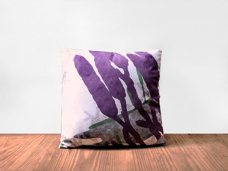 Fern Pattern Pillow-Lycopodium yueshanense