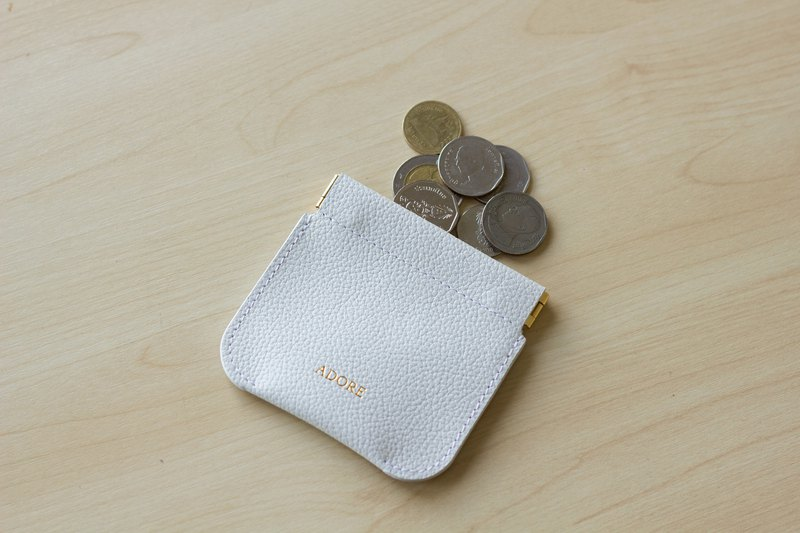 ADORE Leather coin purse - Light Grey / 零錢包 / 小銭入れ