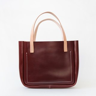 Wine red vegetable tanned Shoulin large shoulder first layer of leather tote handbags leather handbags