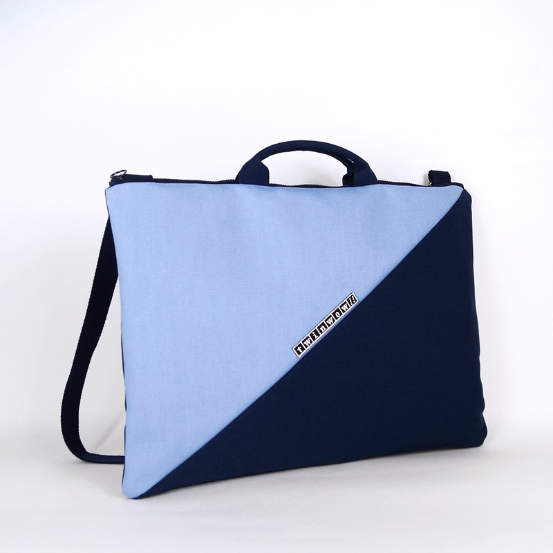 14吋 notebook file portable / side backpack - sky blue