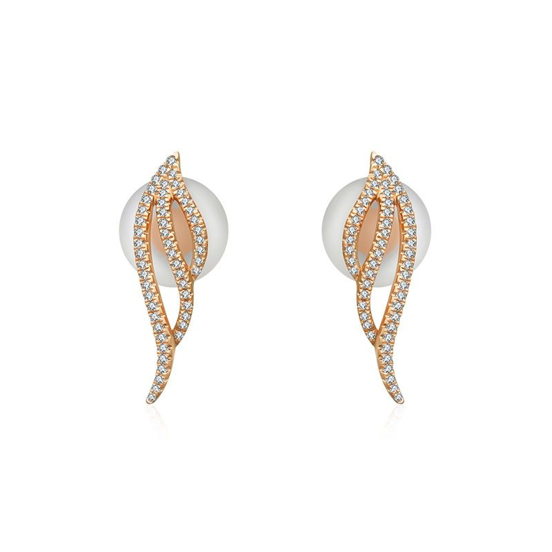 Angel Wing Diamond Earring