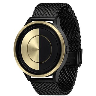 May watches LUNAR Gold (Black / Gold, Black / Gold) * Leather Strap