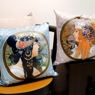 Mucha Byzantine Art Pillow Set