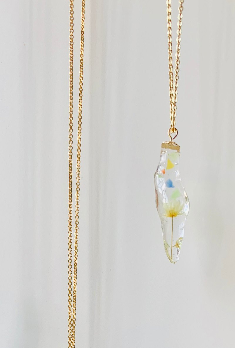 14kgf ICE Flower Icicle Necklace Yellow