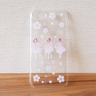 Clear android phone case - Japanese Cherry blossoms SAKURA DANCE -
