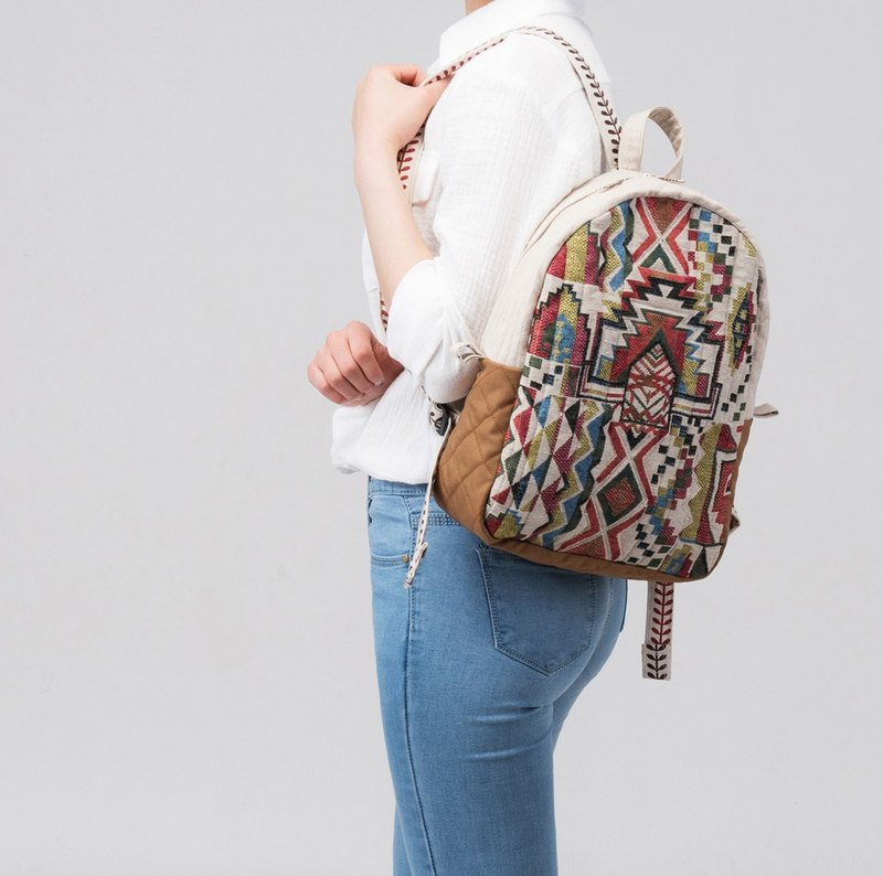 handmade Bohemian backpacks womens bags
