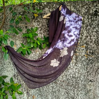 Free isvara dyed grass, dyed cotton, Dai purple scarf, lotus series, I pity.