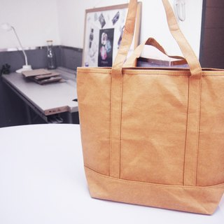 Washable Paper Shopping Bag Tote Bag HandBag with zipper shoulder bag Laptop bag hand bag File Folder Bag Washable Kraft Paper