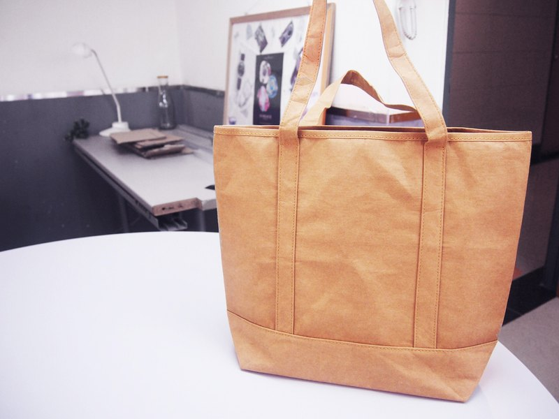 Washable Paper Shopping Bag Tote Bag HandBag with zipperolder Bag Washable