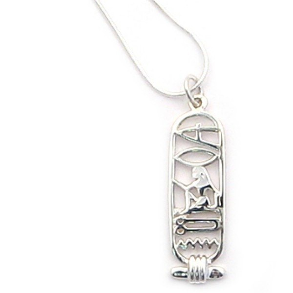 Ancient Egyptian Hieroglyphics I love your silver necklace