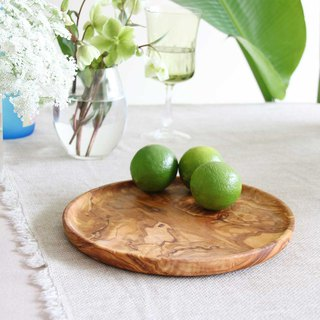 Olive wood CLASSIC Cutlery Plate-23cm