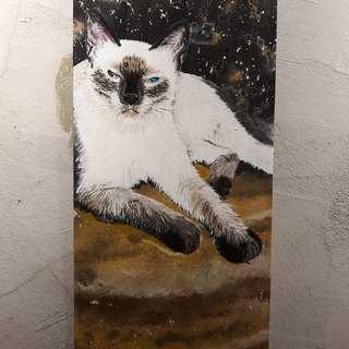 Cosmic Cat Star Man - Venus Retrograde Original Painting