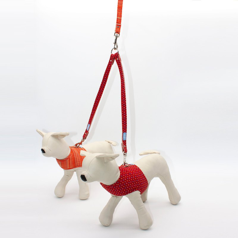 Multi-function double-headed leash - red color point