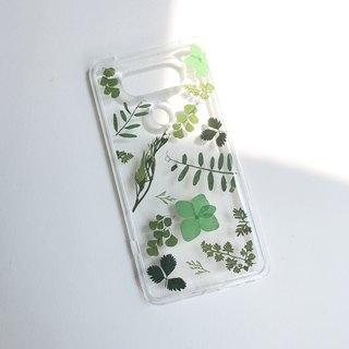 Photosynthesis:: grass green real flower IPHONE mobile phone shell pressed flower phonecase