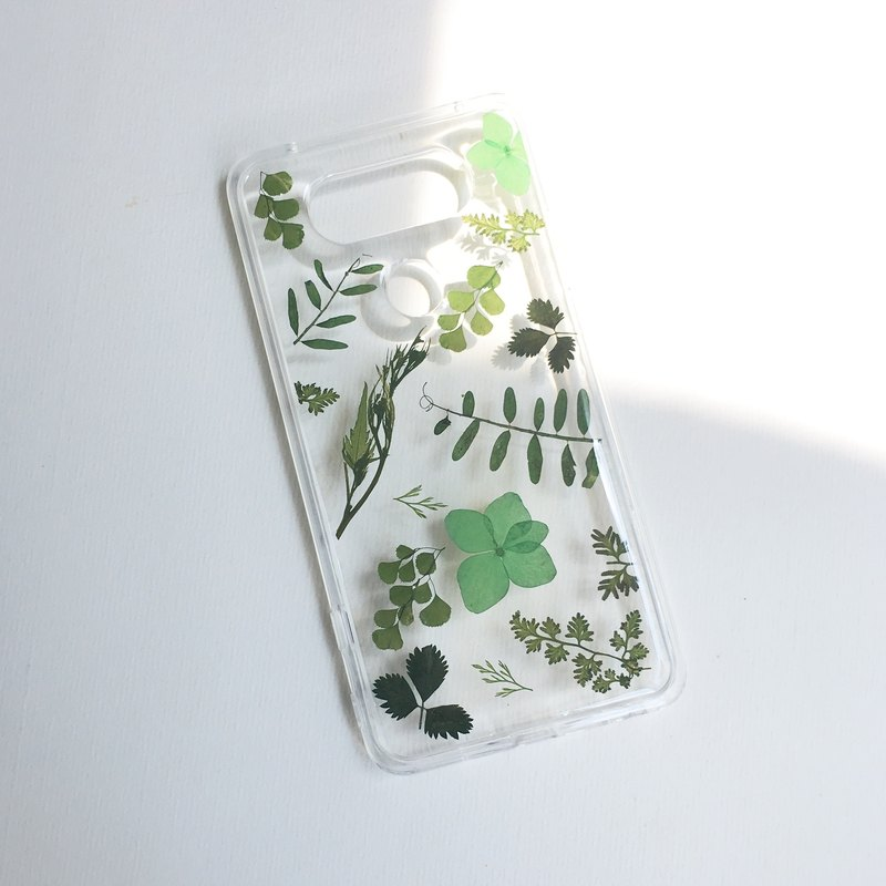 光合作用 草木綠 真花IPHONE手機殼 pressed flower phone case
