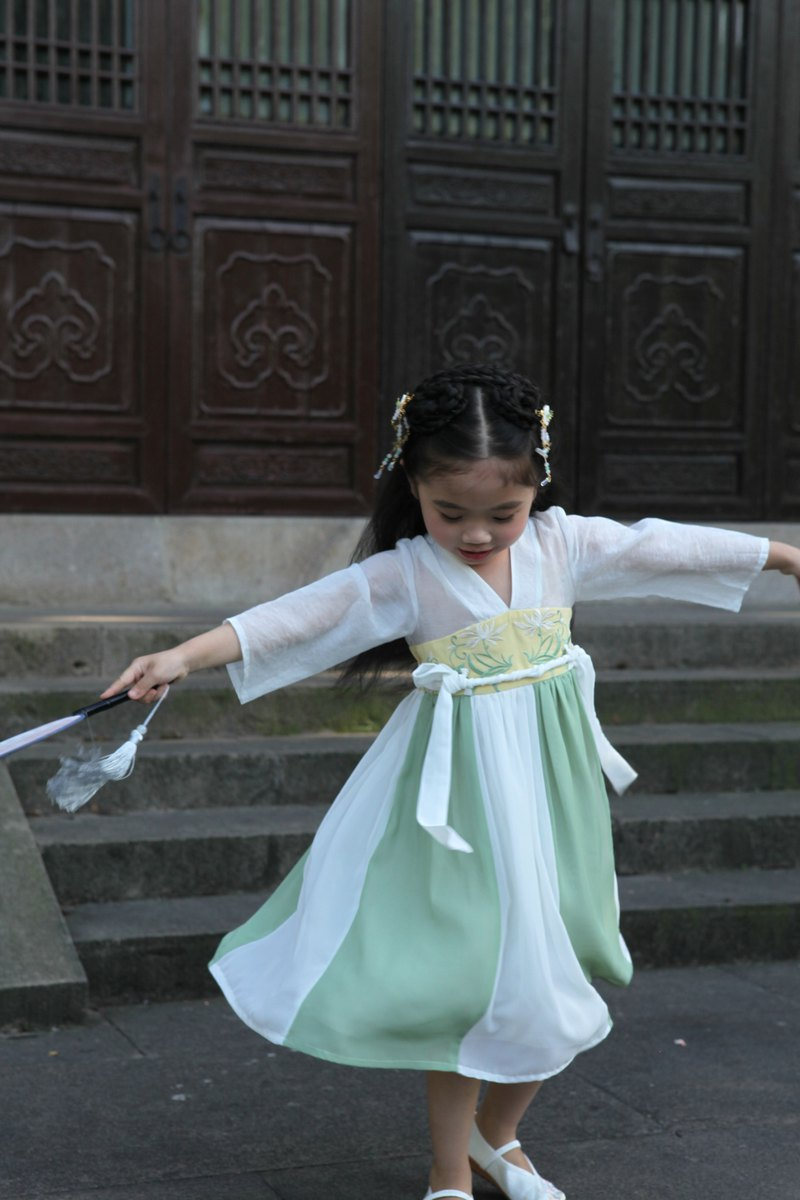 Original Hanfu Girls Summer Princess Children's Chest Broken Skirt Skirt Fairy Super Fairy Chinese Style Dress