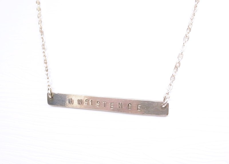 """Ermao Silver"" [simple] long typing along Silver Necklace"