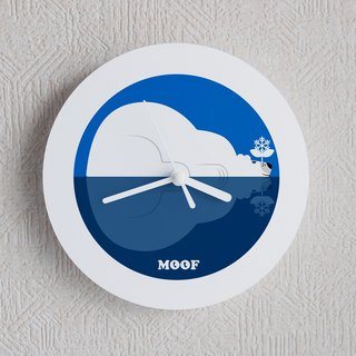 MOOF Illustration Wall Clocks Watches Humorous Simple Design Animals Polar Bear Break Drowsy Arctic