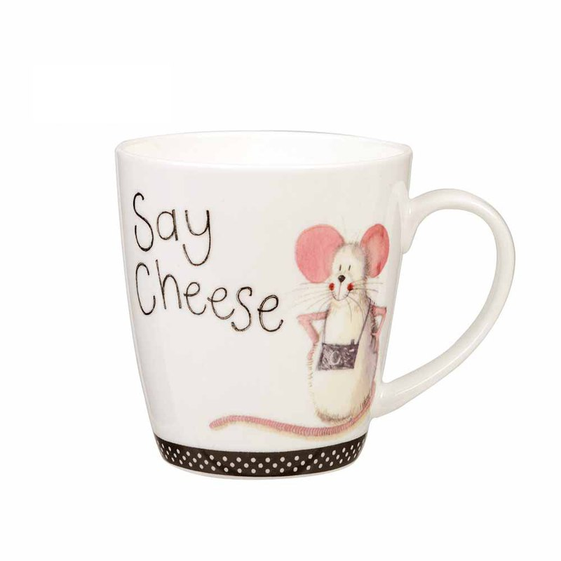 SAY CHEESE BONE CHINA MUG