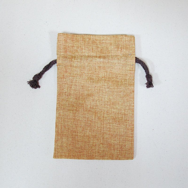 Solid color storage small things linen flannel pocket pocket money bag