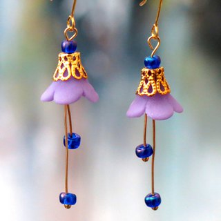 14 kgf . Flower dance earrings series . Violet earrings .  Earrings .  Gift  .