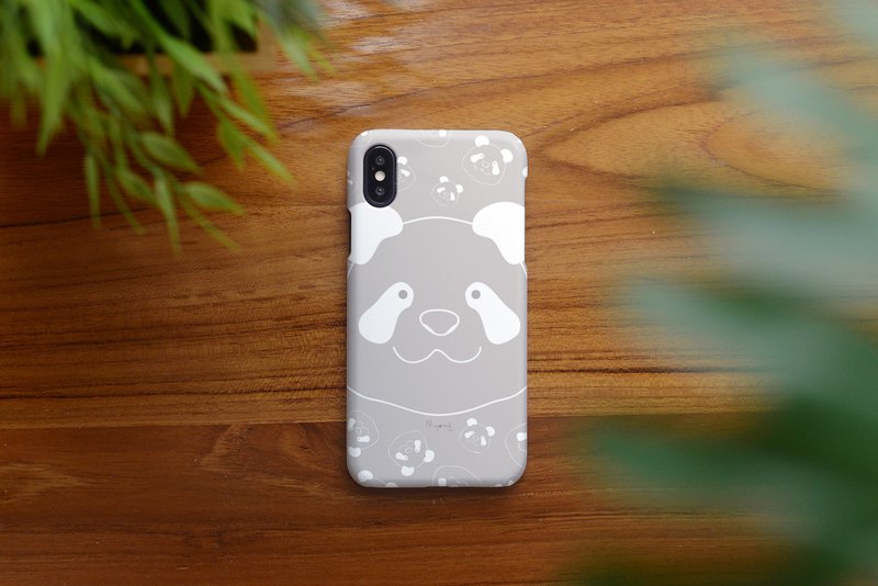 iphone case big gray panda face for iphone 6, 7, 8, iphone xs , iphone xs max