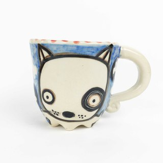 Nice Little Clay Eight-legged Mug Black Wheel Dog 0107-01