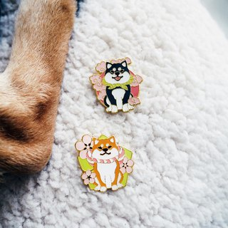 2018 New Year Doghouse Shiba Inu small pendant / badge