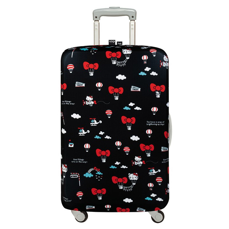 LOQI Luggage Jacket - Sanrio authorized HELLO KITTY hot air balloon [L]