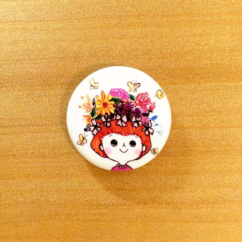 Darwa - Beautiful Flower Girl - Badge