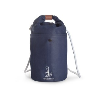 Arctomys EABA - waxed canvas bucket bag - BLUE