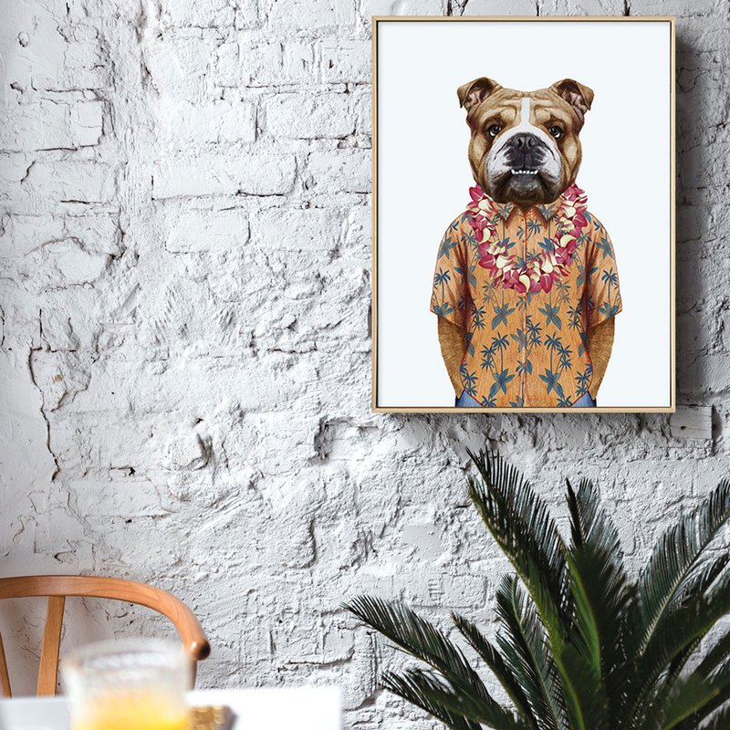 Boss Boxer Dog - Painting / Children's Room Painting / Hotel / Nordic Restaurant / Home Design / Copy Painting
