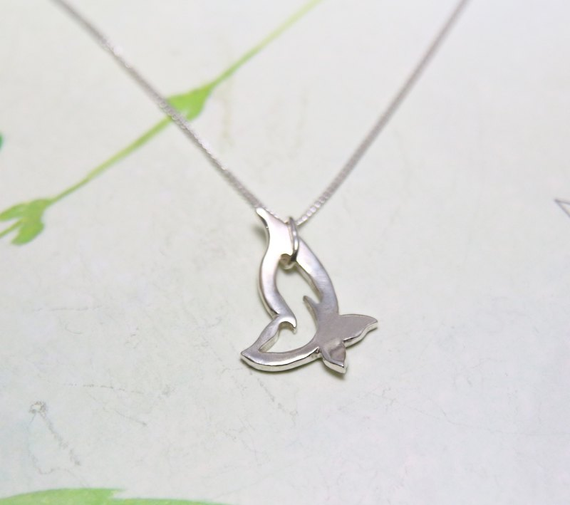 Sterling Silver Necklace / Butterfly