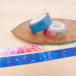 Paper tape 2 into group (1.5cm) - Wishing starry sky + Hope rainbow