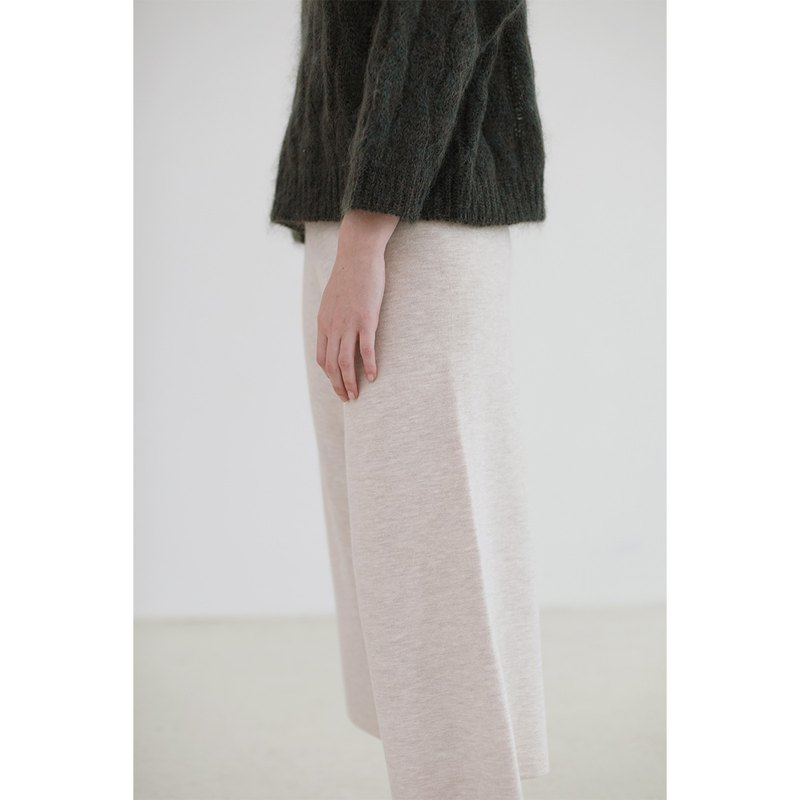 KOOW swallowtail butterfly drape full wool wide leg pants worsted Merino wool knit pants