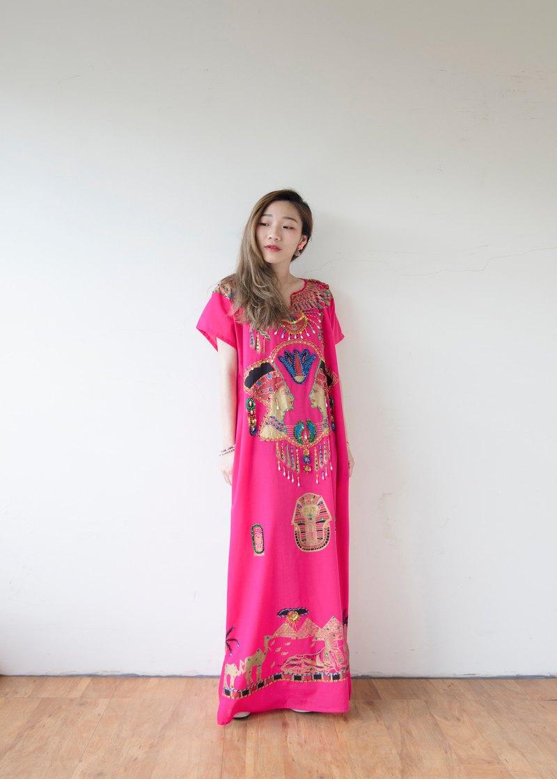 Pink Egyptian Dress