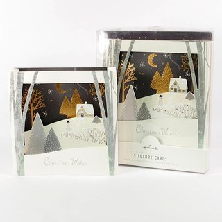 Night scene Christmas box card 5 into [Hallmark-card Christmas series]