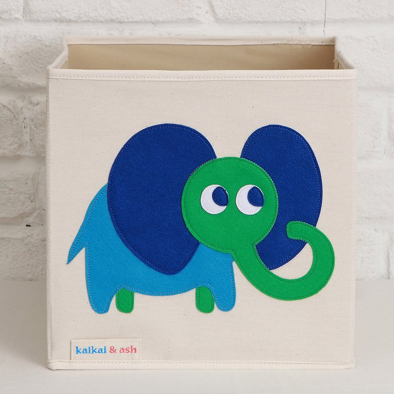 Witty elephant - toy storage box (cloth standard)