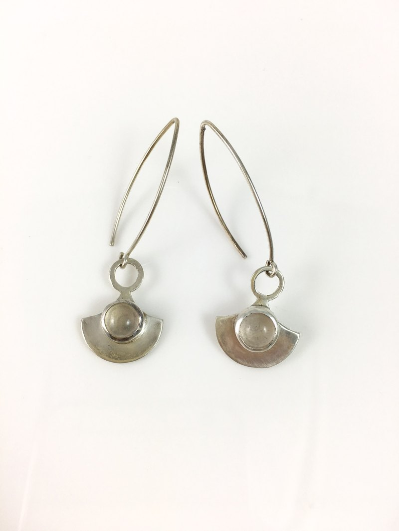 Natural Gemstone Rose Quartz Sterling Sliver Earrings