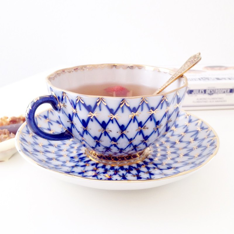 Cup & Saucer The Cobalt Net