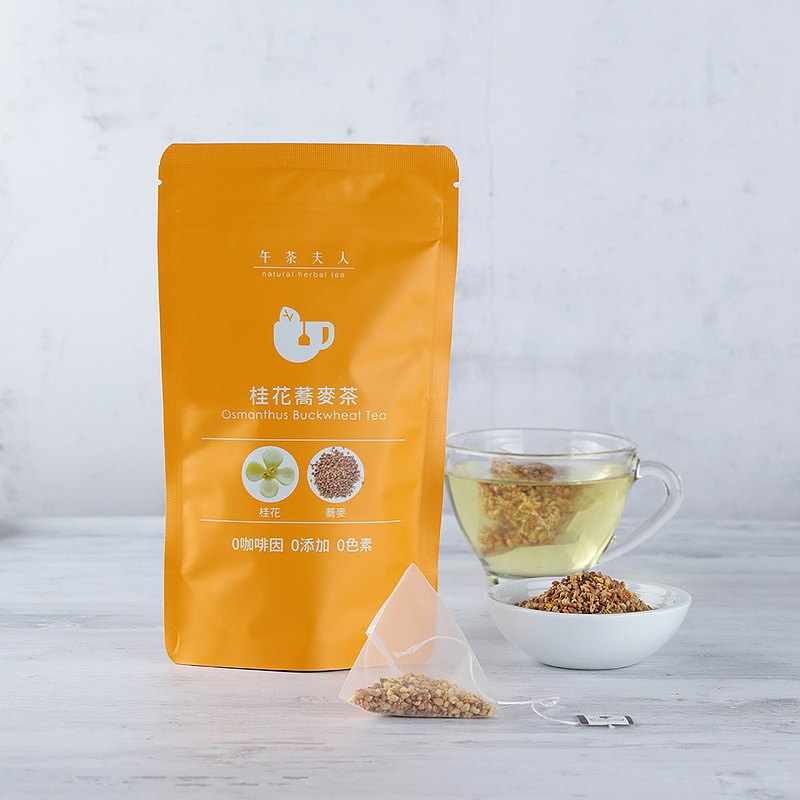 Osmanthus buckwheat tea (10 in / bag) │ triangle three-dimensional tea bag ‧ no caffeine ‧ nutritional supplies