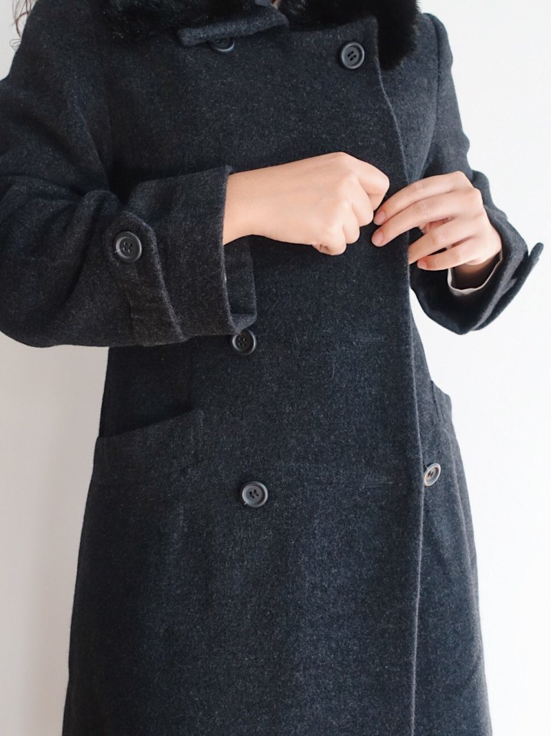 Vintage coat / wool no.109 tk