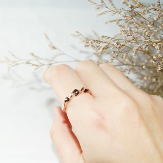 MissU series -Tender -handmade silver ring - Rose gold color