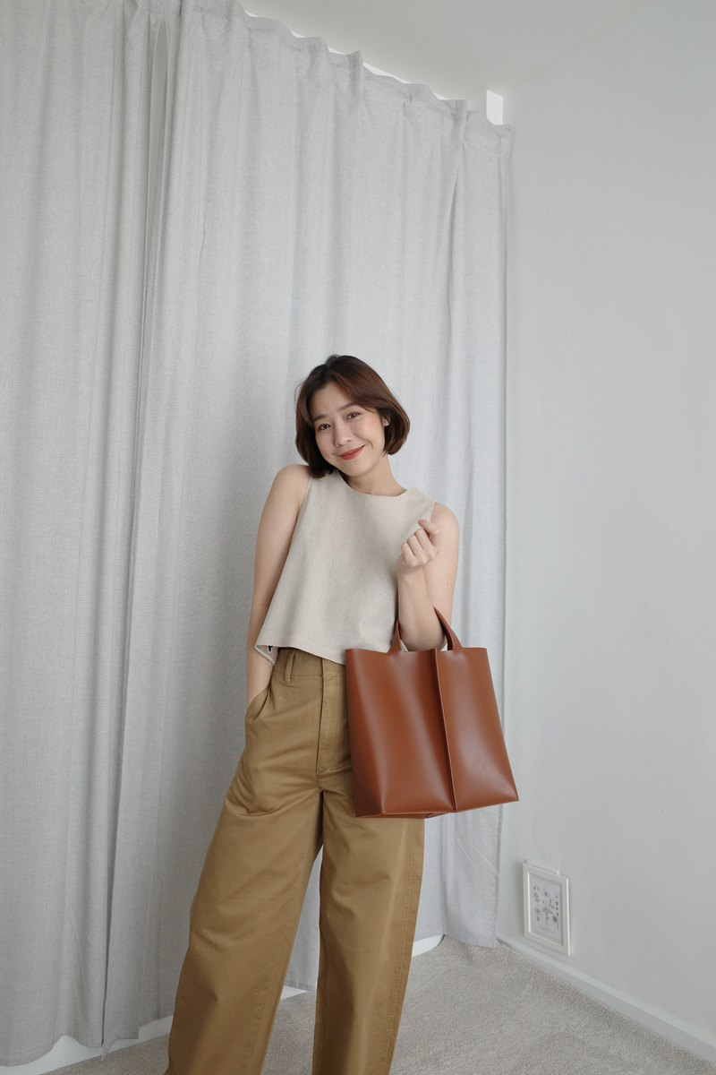 New! Signature tote II by WHITEOAKFACTORY - Chocolate brown